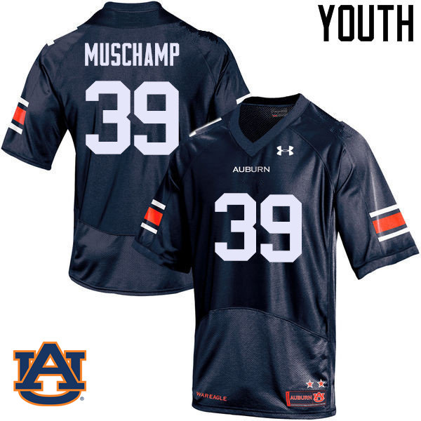 Youth Auburn Tigers #39 Robert Muschamp College Football Jerseys Sale-Navy